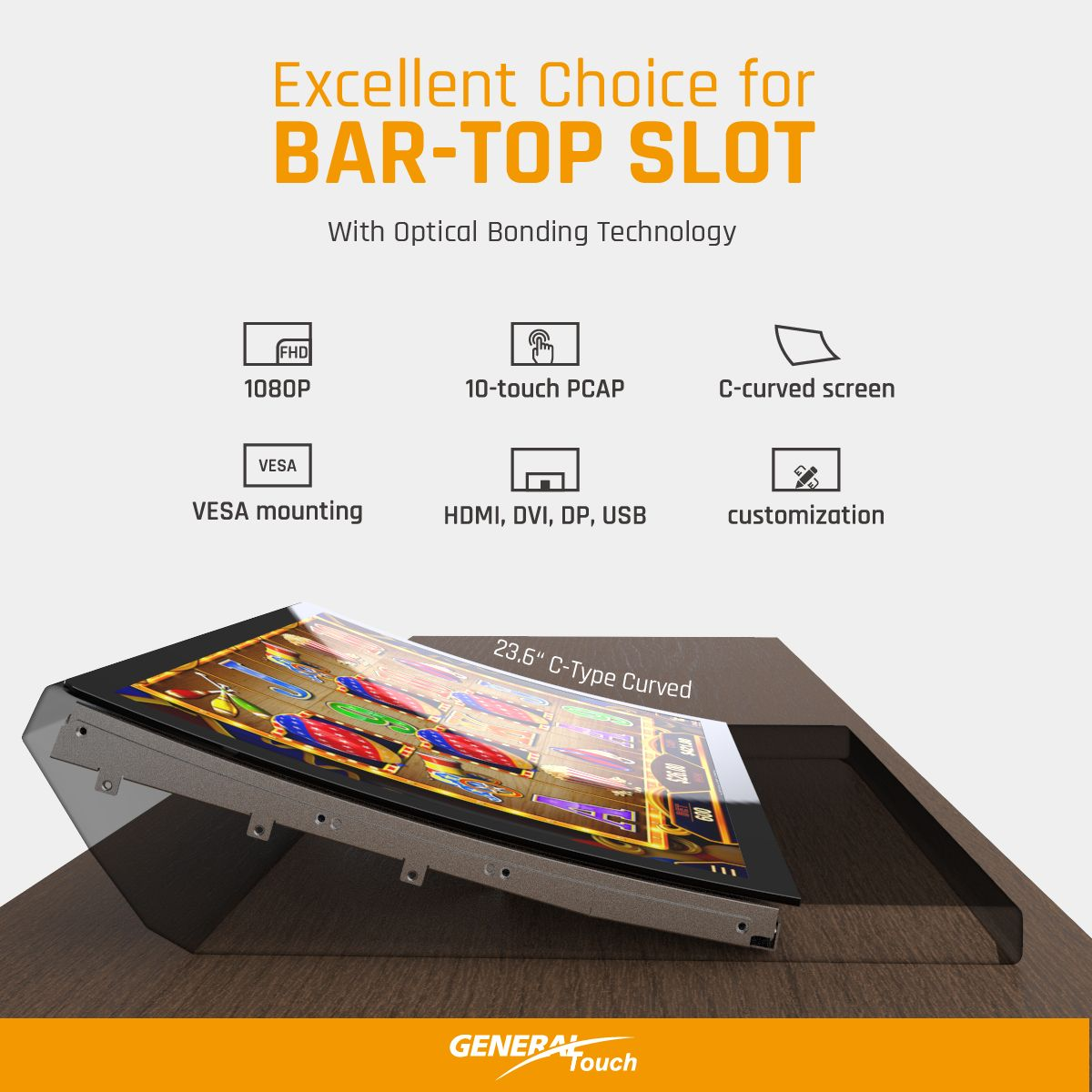 Clear Bar-Top Slot Viewing