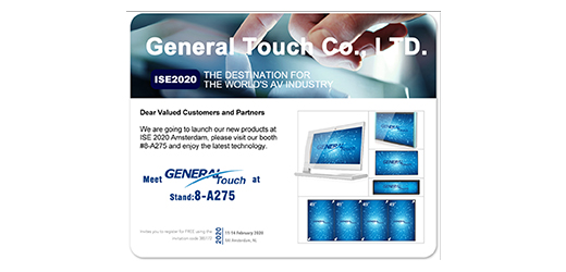 Meet General Touch at ISE 2020