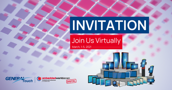 Join us each day (March 1-5, 2021) at Embedded World 2021 virtually